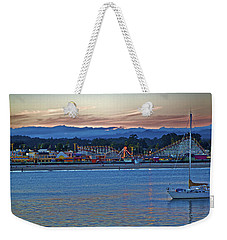 Boat At Dusk Santa Cruz Boardwalk Weekender Tote Bag