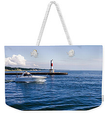 Boat At Holland Pier Weekender Tote Bag