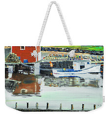 Boat At Louisburg Ns Weekender Tote Bag