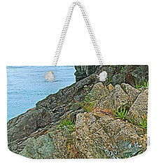 Boat By East Quoddy Bay On Campobello Island-nb Weekender Tote Bag