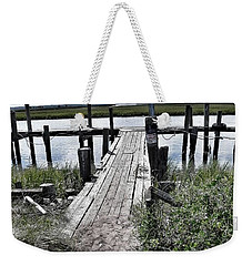 Weekender Tote Bag featuring the photograph Boat Dock With Gulls by Patricia Greer