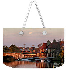 Boat Houses At Dawn Weekender Tote Bag