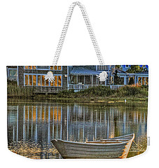 Boat In Late Afternoon Weekender Tote Bag