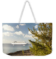 Weekender Tote Bag featuring the photograph Boat In Port by Amar Sheow