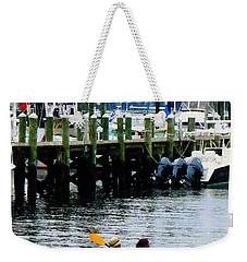 Boat - Kayaking In Newport Ri Weekender Tote Bag