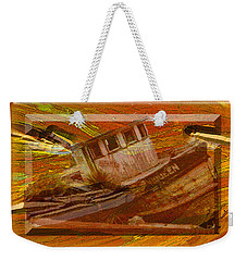 Weekender Tote Bag featuring the photograph Boat On Board by Larry Bishop
