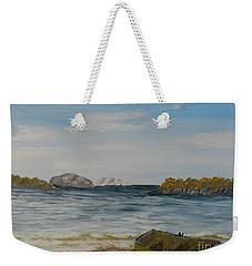 Boat On The Beach Weekender Tote Bag