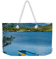 Weekender Tote Bag featuring the photograph Boat On Upper Lake Killarney by Jane McIlroy