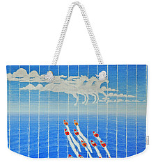 Boat Race Horse Clouds Weekender Tote Bag