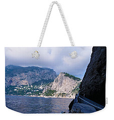 Weekender Tote Bag featuring the photograph Boat Ride To Capri by Mike Ste Marie