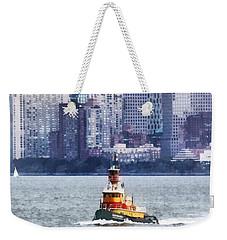 Boat - Tugboat By Manhattan Skyline Weekender Tote Bag