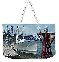 Boat With Light Buoy By Jan Marvin Weekender Tote Bag