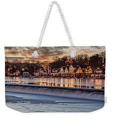 Boathouse Row Philadelphia Pa Weekender Tote Bag by Susan Candelario