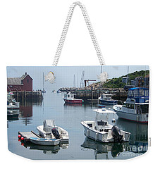 Weekender Tote Bag featuring the photograph Boats On The Water by Eunice Miller