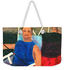Weekender Tote Bag featuring the painting Boating by Donald J Ryker III