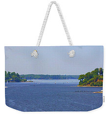 Boating On The Severn River Weekender Tote Bag
