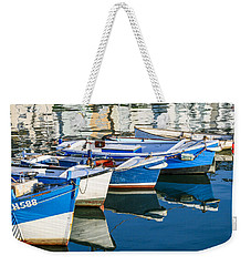 Boats At Anchor Weekender Tote Bag