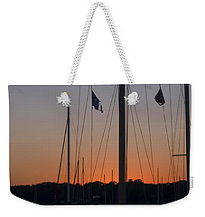 Boats At Beaufort Weekender Tote Bag