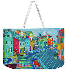 Boats At Burano Weekender Tote Bag
