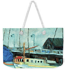 Boats At Provincetown Ma Weekender Tote Bag