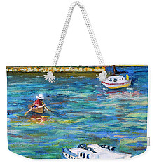 Boats At St Petersburg Weekender Tote Bag