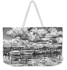 Weekender Tote Bag featuring the photograph Boats by Howard Salmon