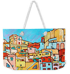 Boats In Front Of The Buildings Vii Weekender Tote Bag by Xueling Zou