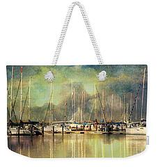 Boats In Harbour Weekender Tote Bag
