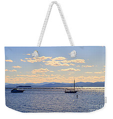 Boats On Lake Champlain Vermont Weekender Tote Bag