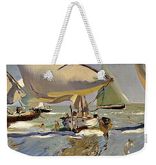 Boats On The Shore Weekender Tote Bag