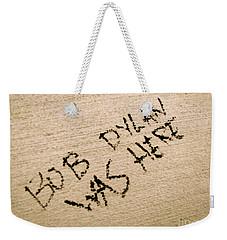 Bob Dylan Graffiti Weekender Tote Bag