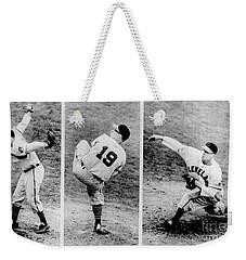 Bob Feller Pitching Weekender Tote Bag