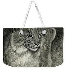 Bobcat Emerging Weekender Tote Bag by Sandra LaFaut