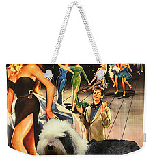Bobtail -  Old English Sheepdog Art Canvas Print - La Dolce Vita Movie Poster Weekender Tote Bag