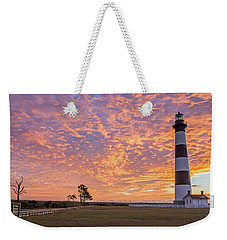 Bodie Island Lighthouse At Sunrise Weekender Tote Bag by Photographic Arts And Design Studio