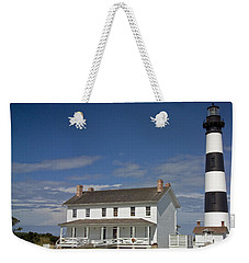 Weekender Tote Bag featuring the photograph Bodie Lighthouse Obx by Greg Reed