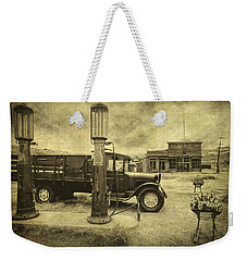 Weekender Tote Bag featuring the photograph Bodie Memories by Priscilla Burgers