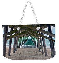 Bogue Banks Fishing Pier Weekender Tote Bag by Sandi OReilly