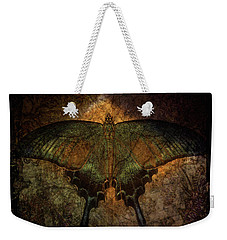 Weekender Tote Bag featuring the digital art Bohemia Butterfly - Art Nouveau by Absinthe Art By Michelle LeAnn Scott