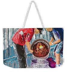 Boiling Mud Bugs Weekender Tote Bag