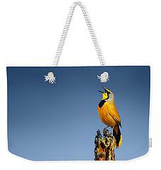Bokmakierie Bird Calling Weekender Tote Bag