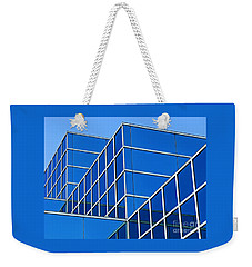 Weekender Tote Bag featuring the photograph Boldly Blue by Ann Horn