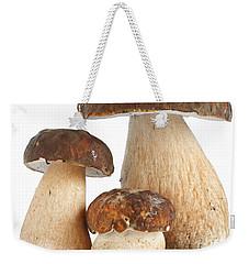 Weekender Tote Bag featuring the photograph Boletus Edulis Var. Aereus by Antonio Scarpi