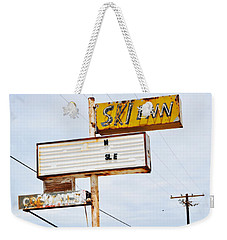 Bombay Beach Abandoned Ski Inn Weekender Tote Bag