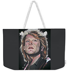 Weekender Tote Bag featuring the pastel Bon Jovi by Peter Suhocke