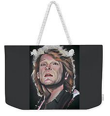 Bon Jovi Weekender Tote Bag by Peter Suhocke