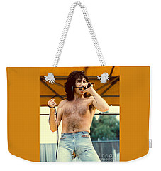 Bon Scott Of Ac Dc At Day On The Green - July 1979 Weekender Tote Bag