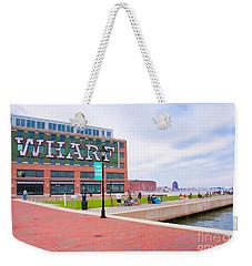 Bond Street Landing Baltimore Maryland Weekender Tote Bag by Vizual Studio