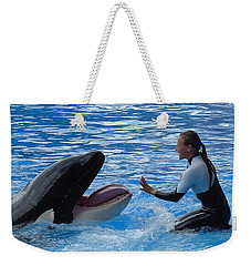 Weekender Tote Bag featuring the photograph Bonding by David Nicholls