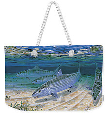 Bonefish Flats In002 Weekender Tote Bag by Carey Chen